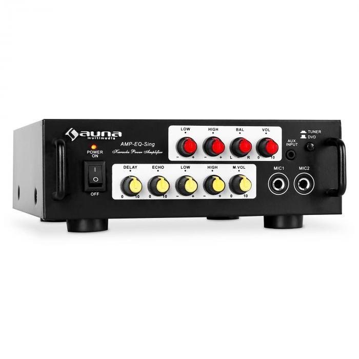 Auna Home cinema ampli PA hifi karaoke stereo 2 micro 400W