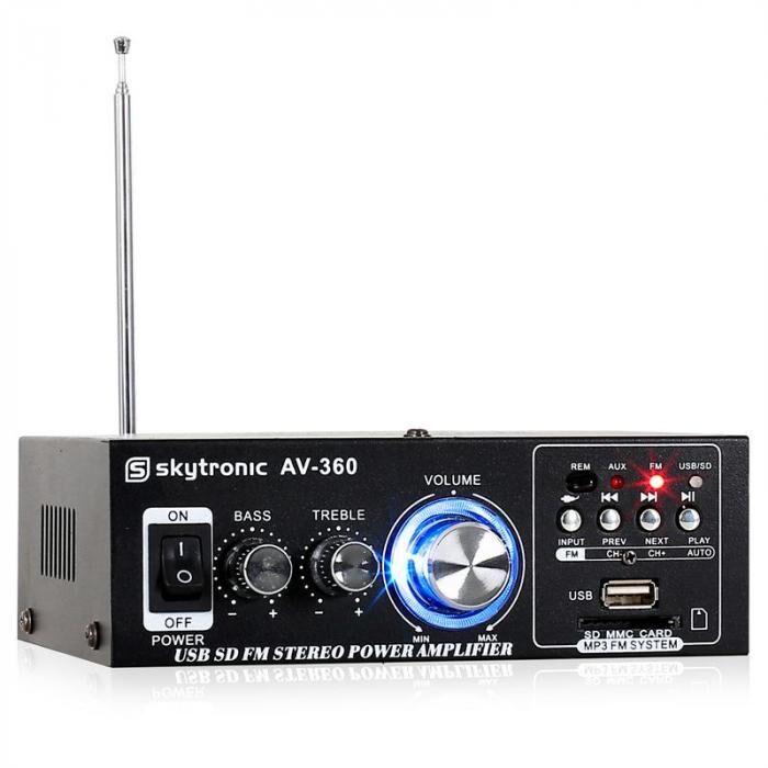 Skytronic AV-360 ampli HiFi stéréo USB SD MP3 AUX FM