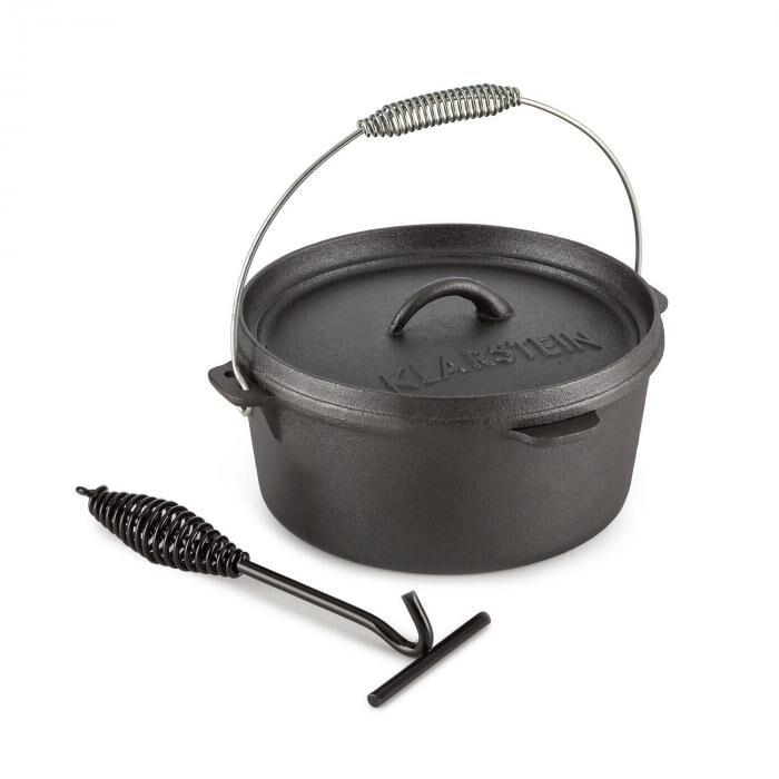 Klarstein Hotrod 45 Cocotte BBQ 4,5 qt / 4 litres Fonte - noir