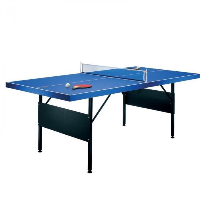 Riley Table de ping pong pliable 183x71x91cm + 2 raquettes