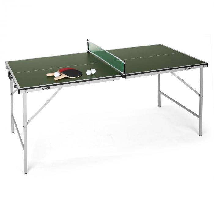 KLARFIT Mini table de ping-pong pliable -verte