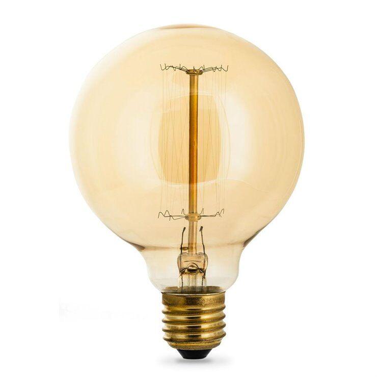 Filamentstyle Ampoules Filamentstyle FILAMENT GLOBE 95-Ampoule Incandescente Décorative Globe E27 Ø9,5cm 2700K 40W 160 Lumens Dimmable