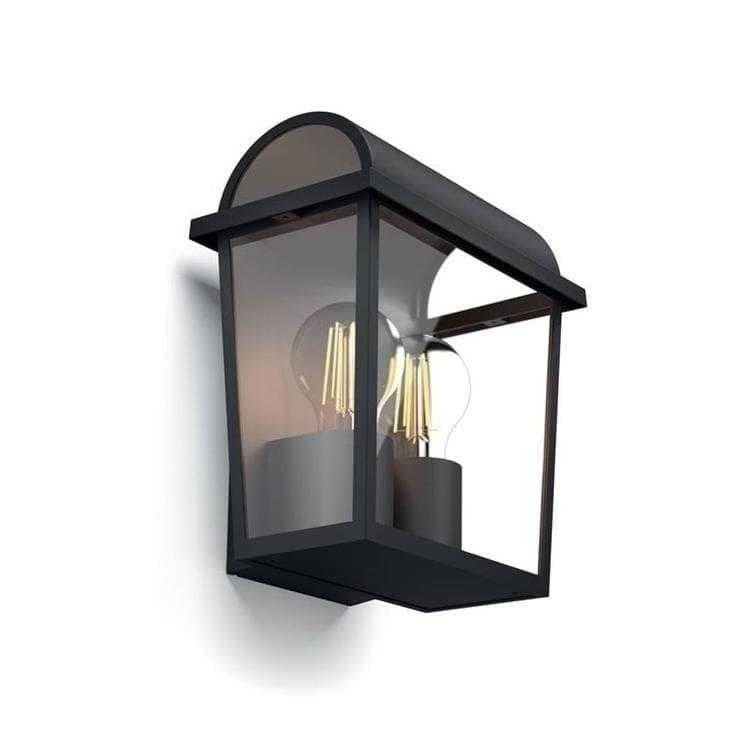 Philips Appliques d'extérieur Philips HARVEST-Applique d'extérieur 2 Lumières Métal H23cm Noir