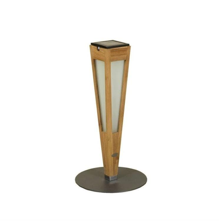 Les Jardins Borne extérieur Les Jardins TINKA TECKA-Torche d'extérieur LED à poser rechargeable & solaire Bois/Ardoise H52cm Bois