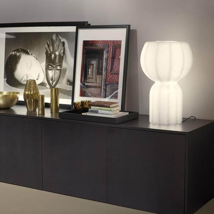 Slide Lampes à poser Slide PUPA-Lampe à poser LED Polyéthylène effet papier japonais H58cm Blanc