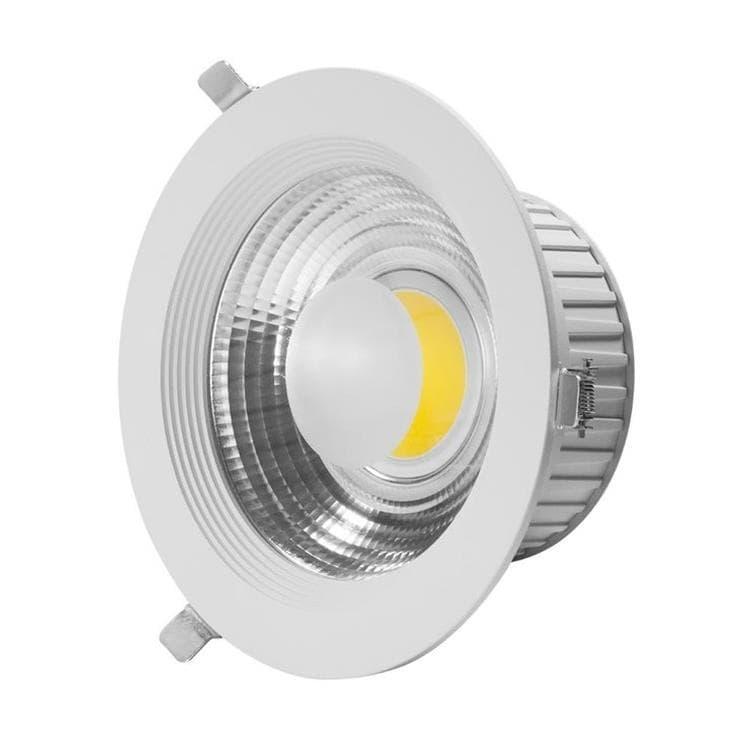 Lumihome Spots Lumihome COB-Spot encastrable orientable LED Métal 3000K 20W Ø19cm Blanc