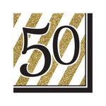 vegaooparty  VegaooParty 16 Serviettes en papier 50 ans noires et dorées... par LeGuide.com Publicité