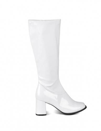 VegaooParty Bottes blanches vernies femme