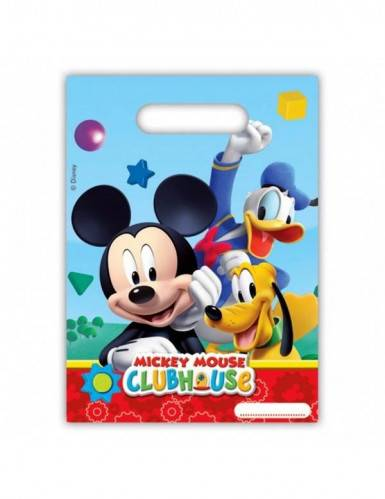 VegaooParty 6 sacs plastique Mickey Mouse Taille Unique