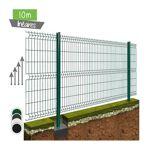 10ML de Grillage Rigide Pro+ - Couleur - Vert 6005, Hauteur et pose - Ht 0m83 avec poteaux sur platines  par LeGuide.com Publicité