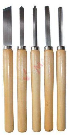Guede Ciseaux à bois Gouges et ciseaux pour tour à bois lots de 5