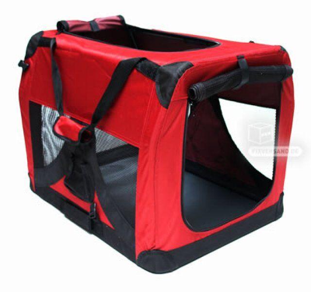 Dema Niche de transport chien - chat - 700 x 520 x 520 mm rouge