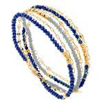 senzou  Senzou Bracelet multitours perles de cristal (bleu, plaqué or),... par LeGuide.com Publicité
