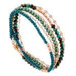 senzou  Senzou Bracelet multitours perles de cristal (kaki, plaqué or rose),... par LeGuide.com Publicité