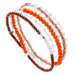 senzou  Senzou Bracelet multitours perles de cristal (corail, argent),... par LeGuide.com Publicité