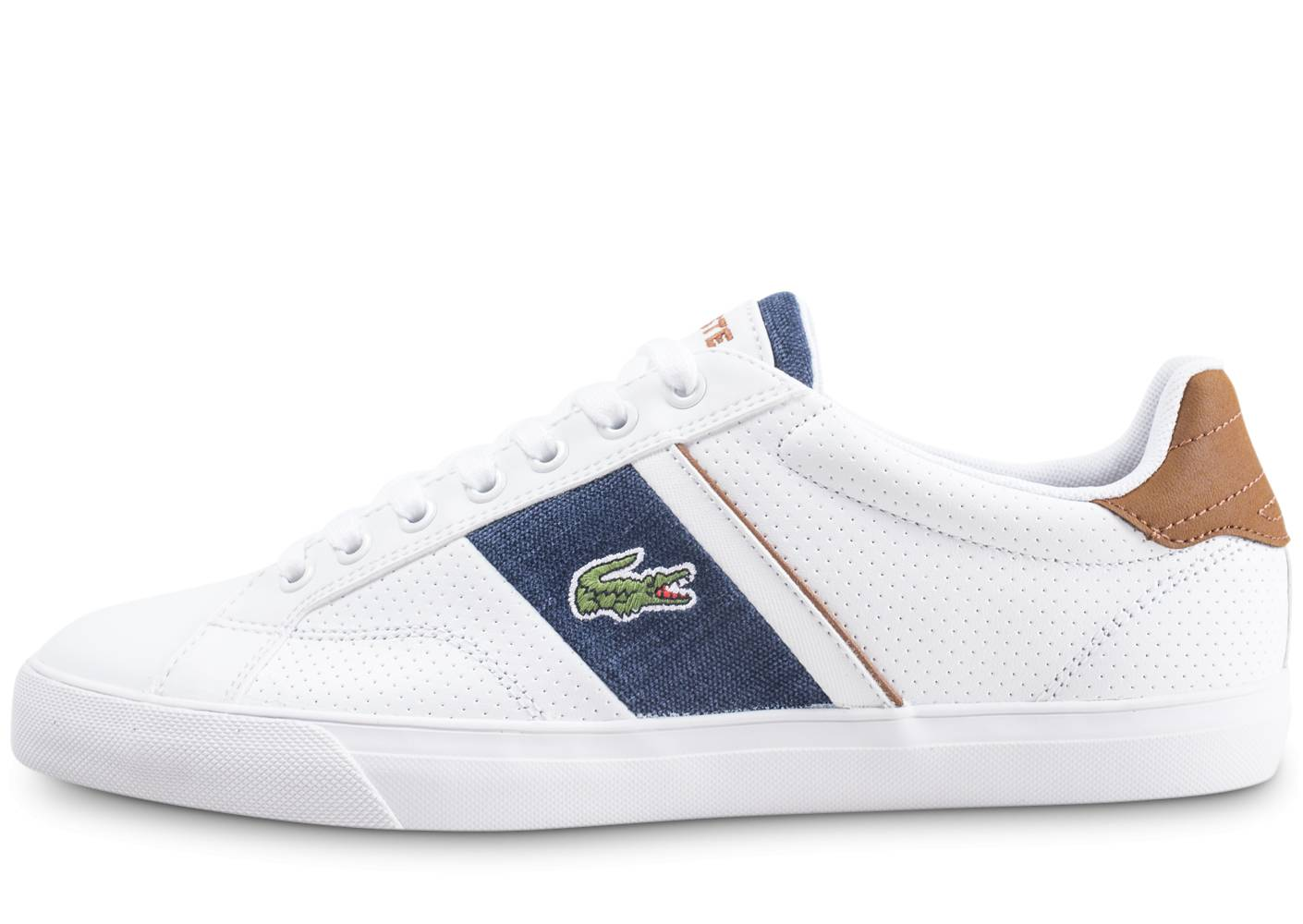 Lacoste Homme Fairlead Blanche Baskets 46