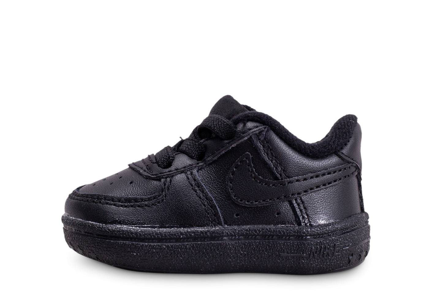 Nike Bébé Air Force 1 Noire Crib Baskets 16