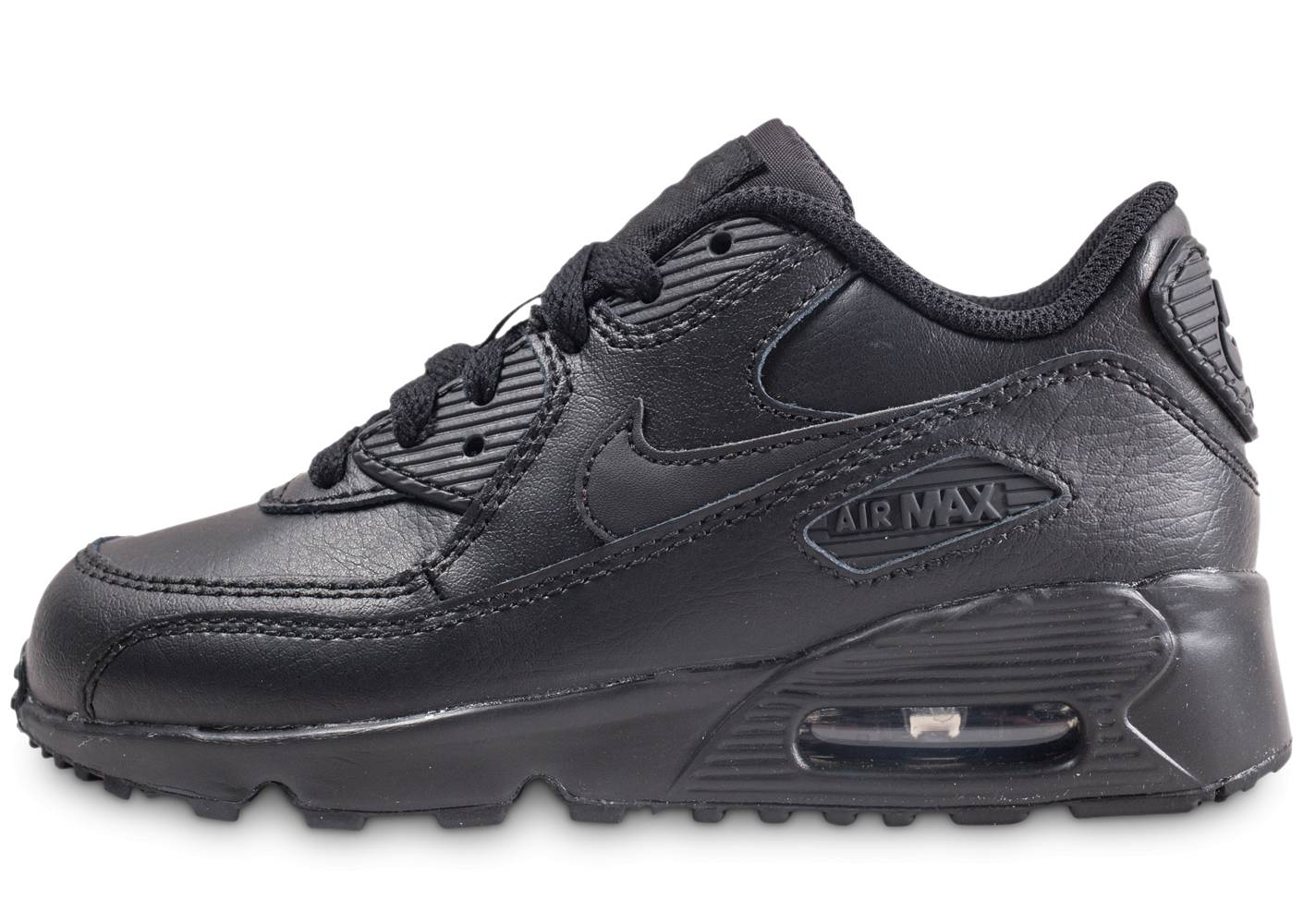 Nike Baskets Nike Nike Air Max 90 Leather Pre-school Noire Enfant