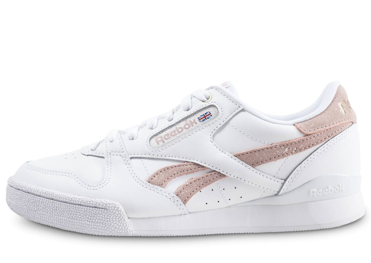 Reebok Homme Phase 1 Pro X Montana Cans Blanche Et Rose Baskets