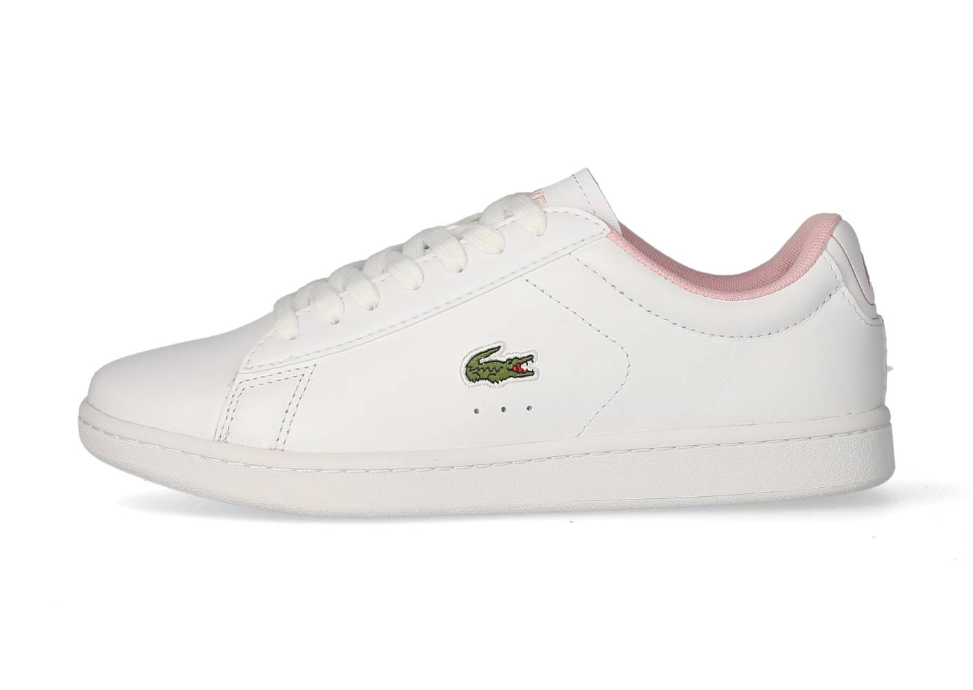 Lacoste Femme Carnaby Evo Blanche Et Rose Tennis 39