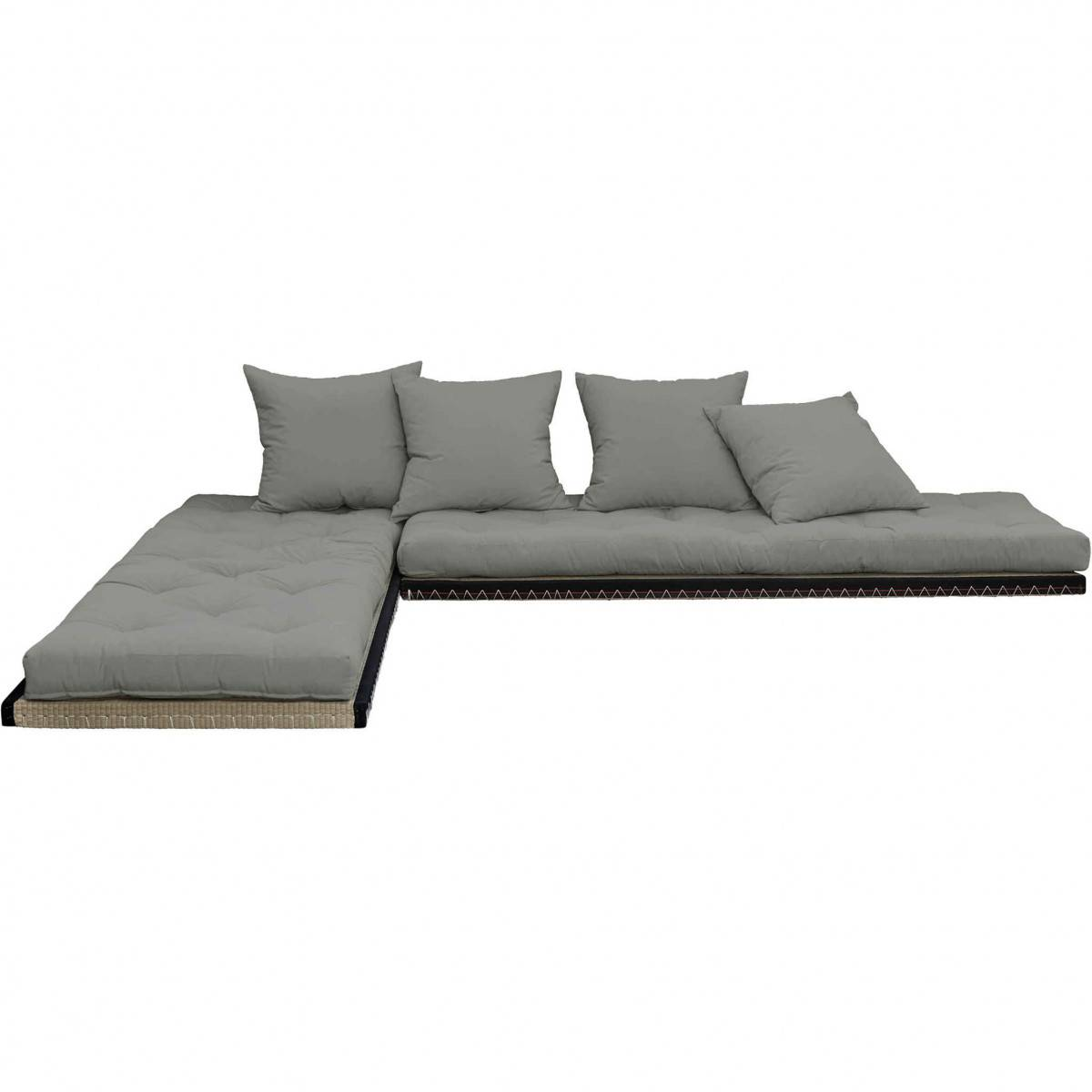 Karup Design Futon canapé lit 3 places 2x70x200 CHICO gris