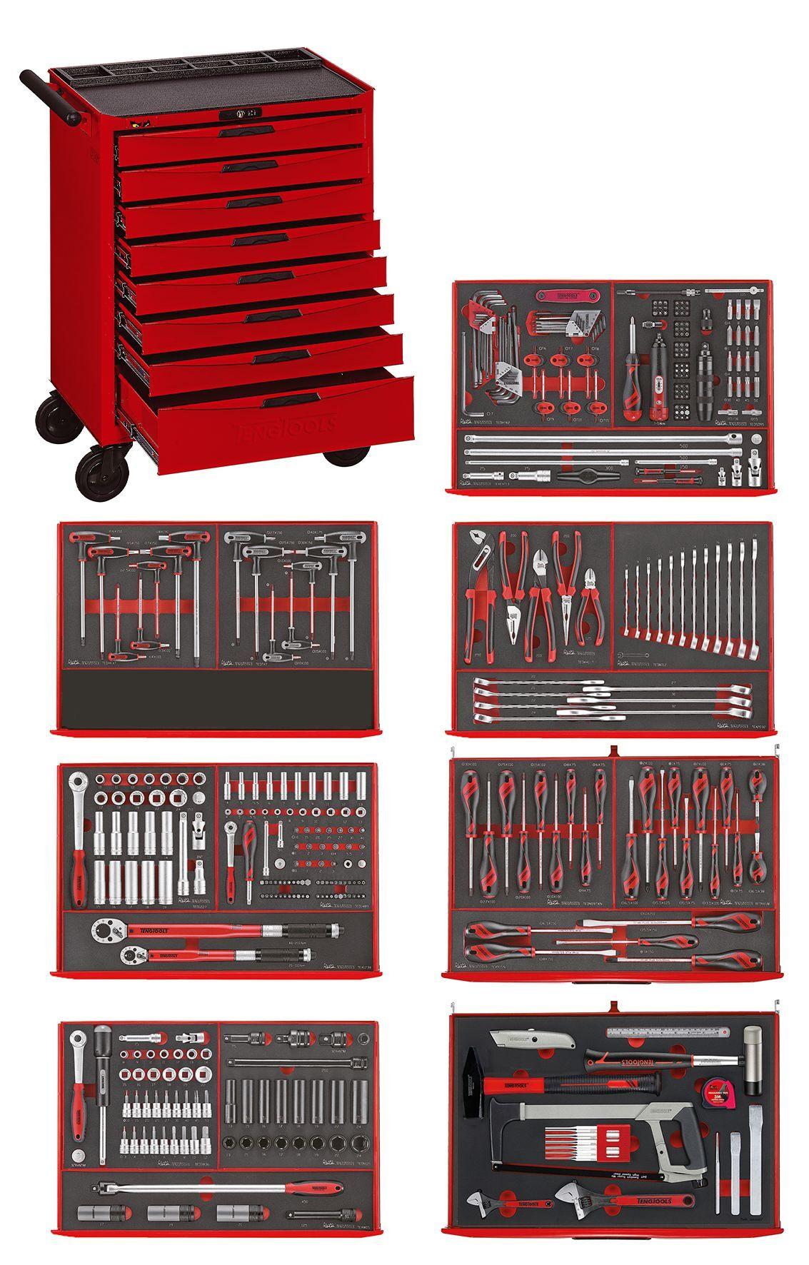 Teng Tools Servante à outils 417 pcs Teng Tools TCEMM417N8