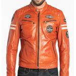 DAYTONA73 Blouson cuir homme orange style moto  101282  Blouson cuir... par LeGuide.com Publicité