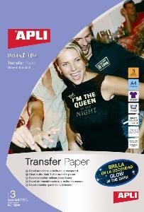 agipa APLI agipa 10248 : Papier Transfert brillant dans l'obscurité - Poch 3 feuilles A4