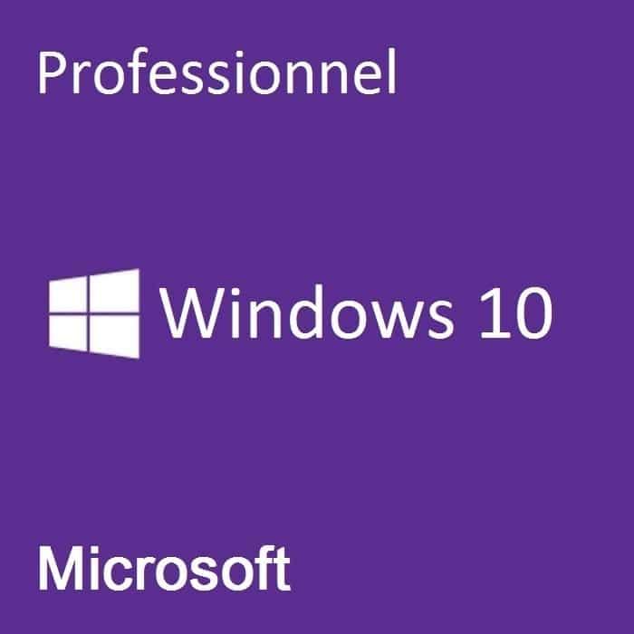 Microsoft Windows 10 Professionnel - (32bits) - Oem 1 Poste