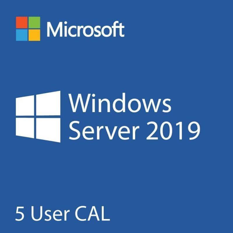 Microsoft 5 Cal Licences D'accès Client Utilisateurs En Remote Desktop Services Pour Windows 2019 Server