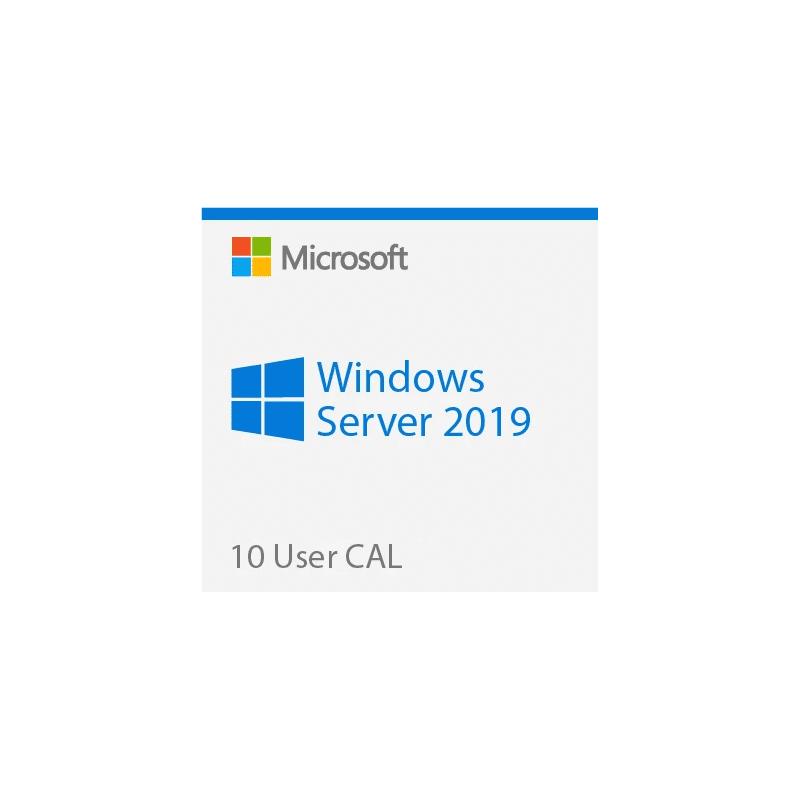 Microsoft 10 Cal Licences D'accès Client Utilisateurs Pour Windows 2019 Server