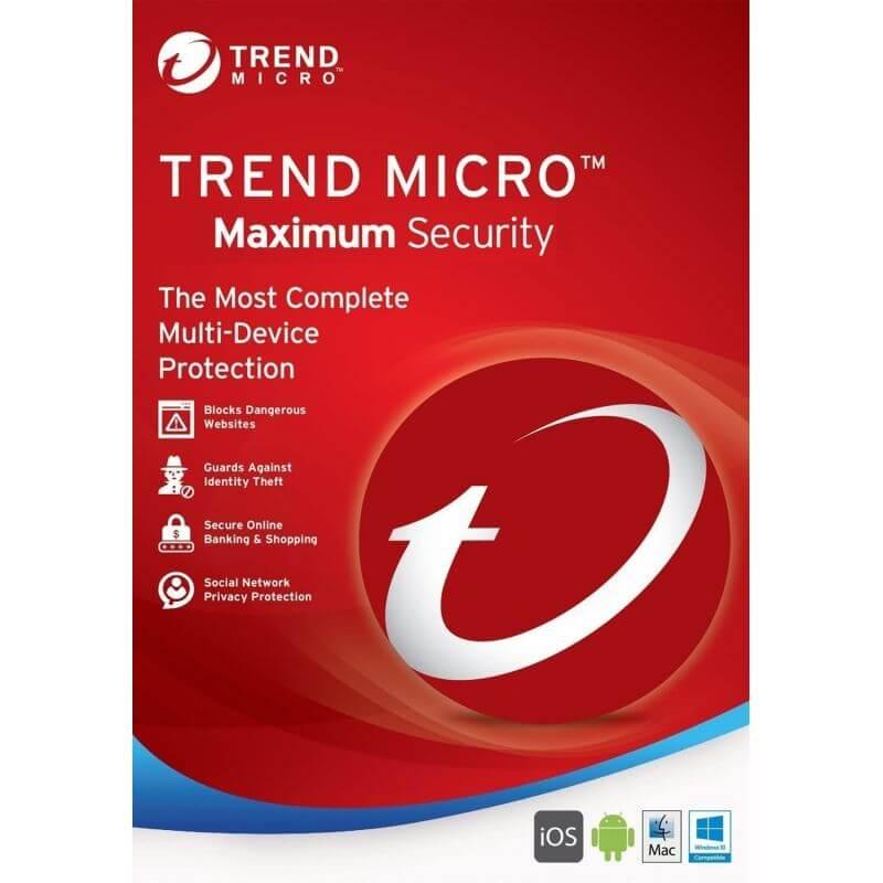 TRENDMICRO Trend Micro Maximum Security 2021 3 Appareils 1 An