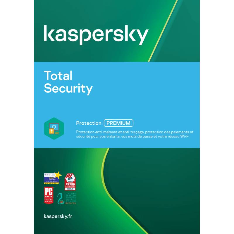 Kaspersky Total Security 2021 5 Appareils 2 Ans