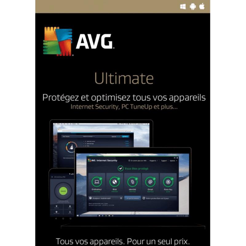 Avg Ultimate 2021 Appareils Illimités 2 Ans