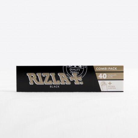 Rizla+ Papier à rouler Rizla+ black slim + filtres