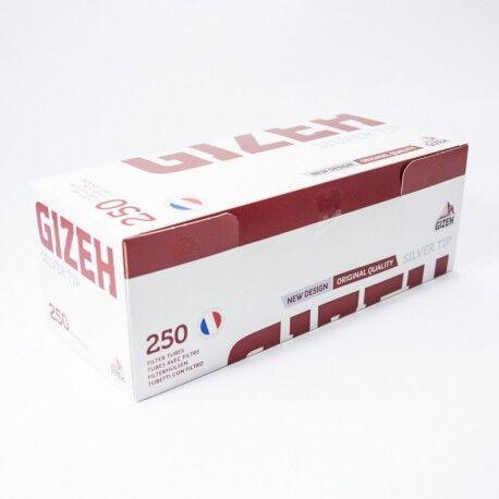 Gizeh Boite 250 tubes Gizeh silver tip