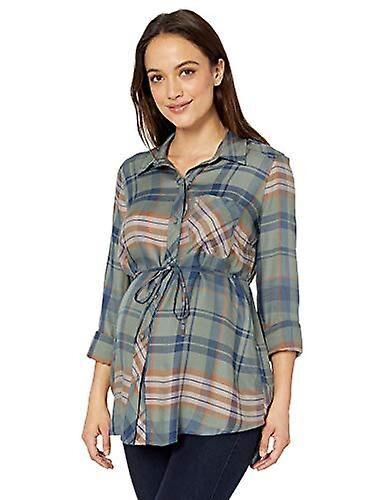 Motherhood Maternity Maternité Maternité Femmes's Maternité Convertible Sleeve, Vert, Taille Moyenne Medium US /