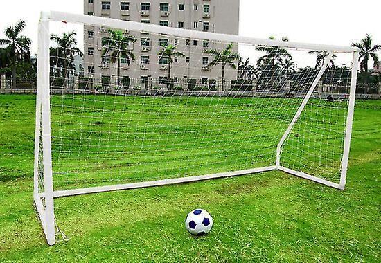 Charles Bentley Kids Junior 10ftx6ft White Portable Football Goal Inc Net Clips & Ground Pegs Blanc Single