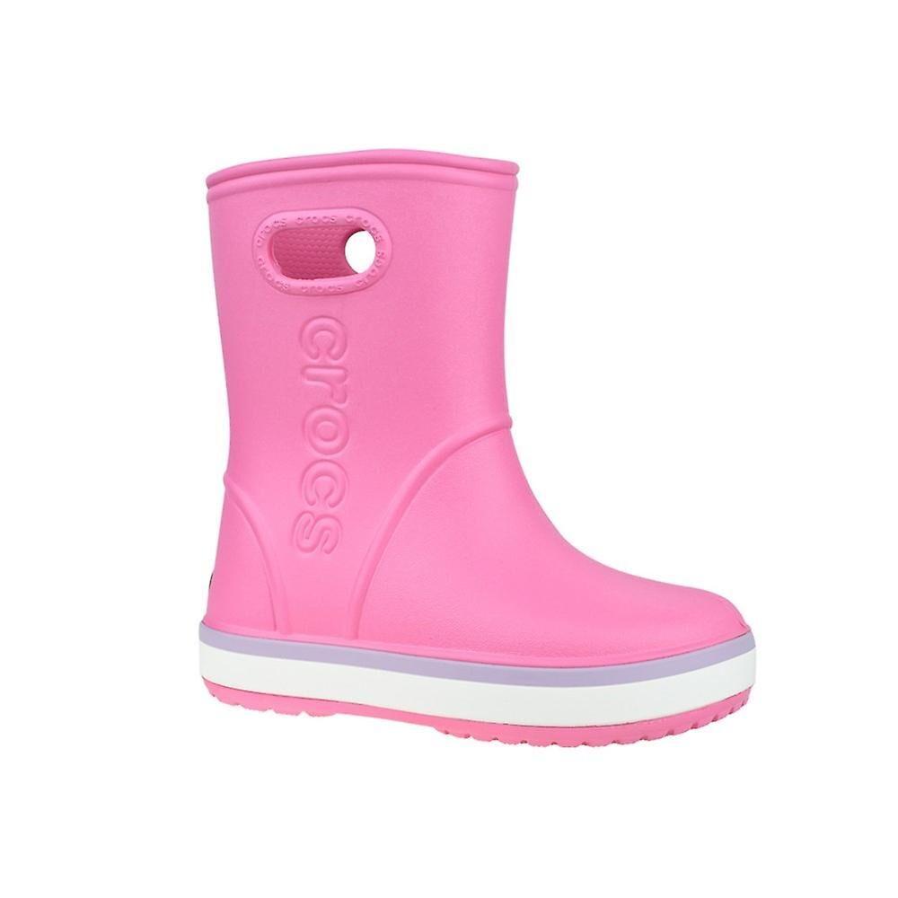 Crocs Crocband Rain Boot Kids 2058276QM eau toute l'année chaussures pour enfants Rose 2 Kid UK / 2 US / 33 EUR / 21 cm