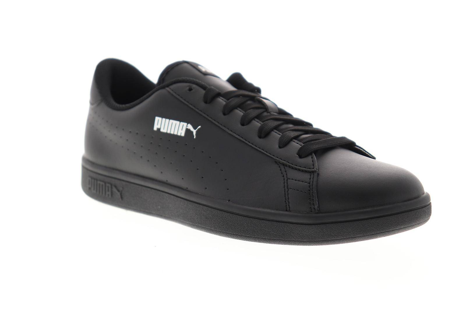 Puma Smash V2 L Perf Mens Noir Synthétique Low Top Sneakers Chaussures