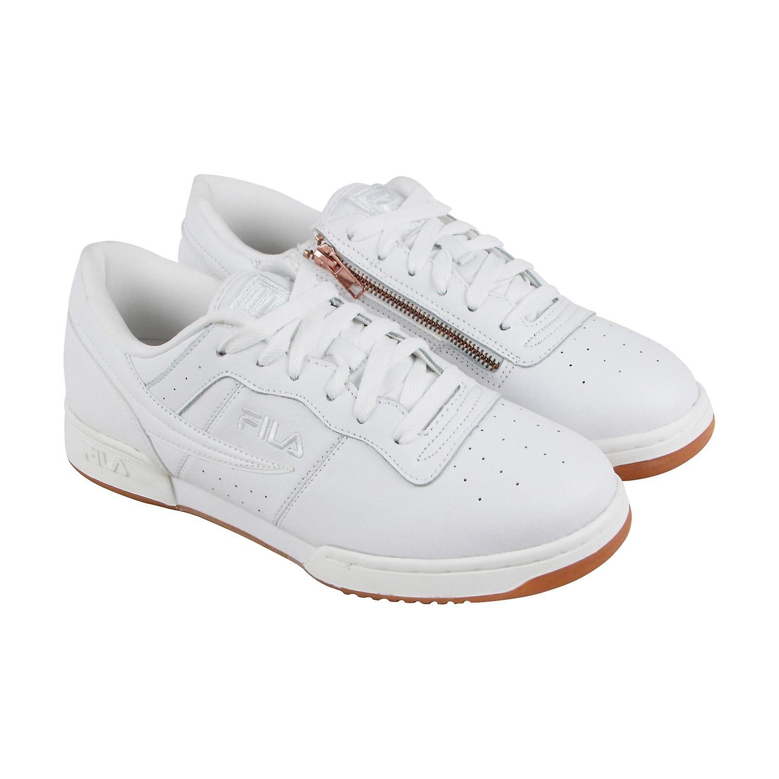 Fila Chaussures Fila Original Fitness Zipper Mens White Leather Casual L...