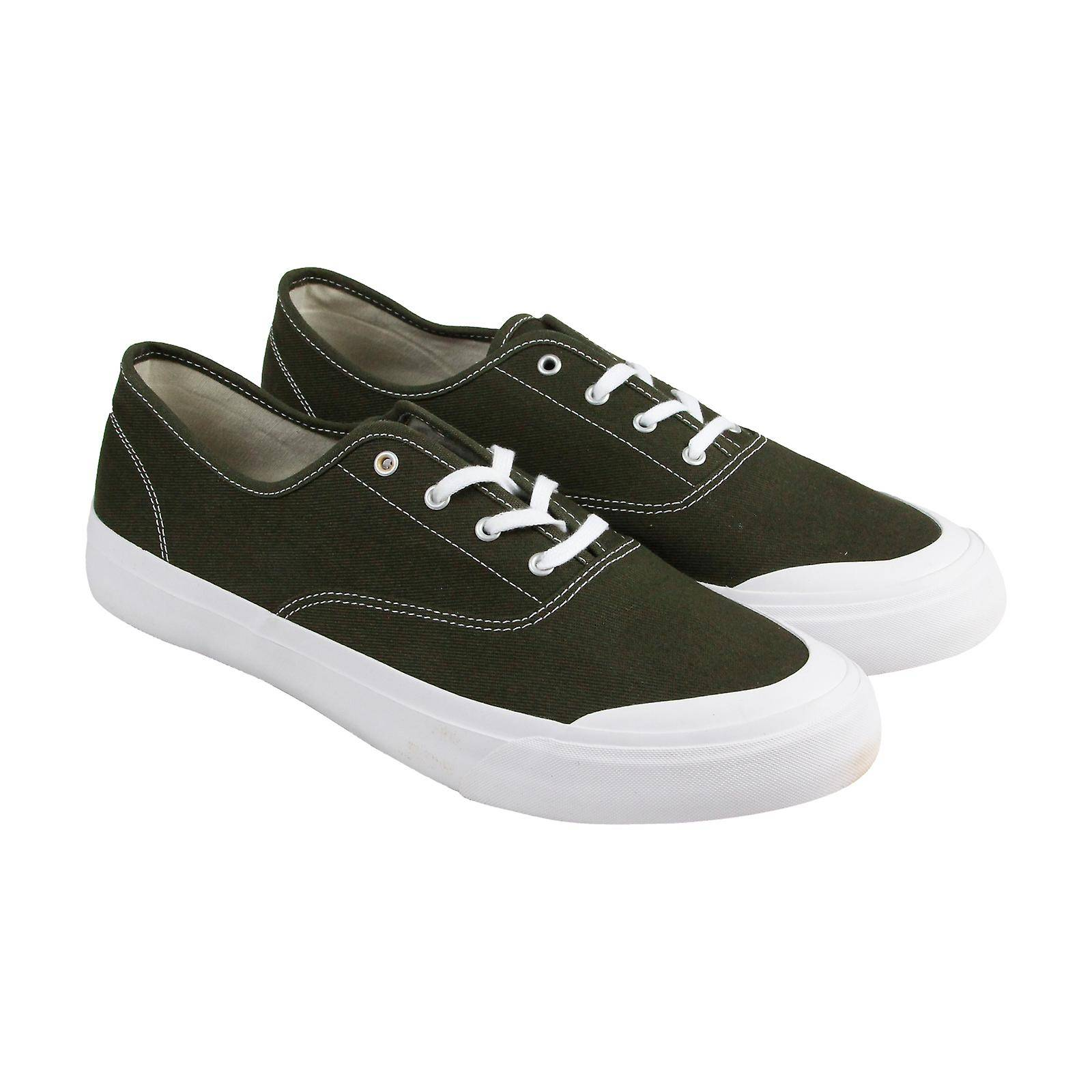 HUF Cromer Mens Green Canvas Low Top Lace Up Athletic Surf Skate Chaussures Laine kaki US 5
