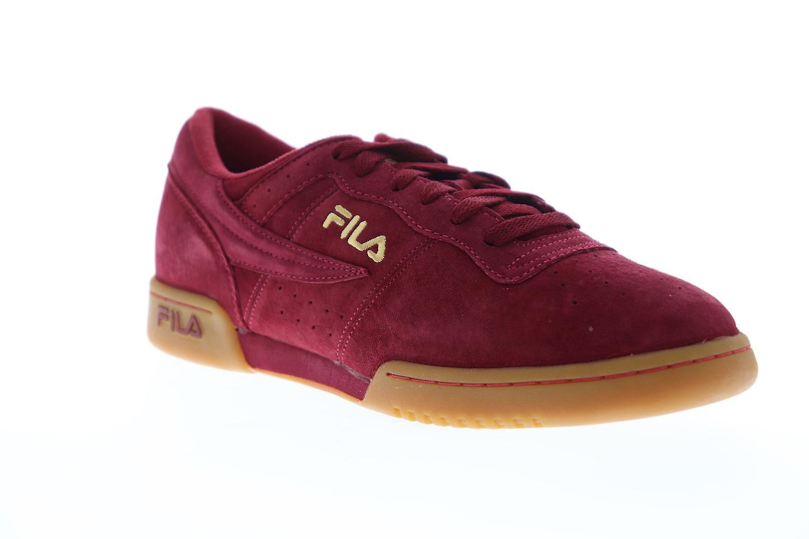 Fila Original Fitness Premium Homme Rouge Suede Casual Low Top Snea...