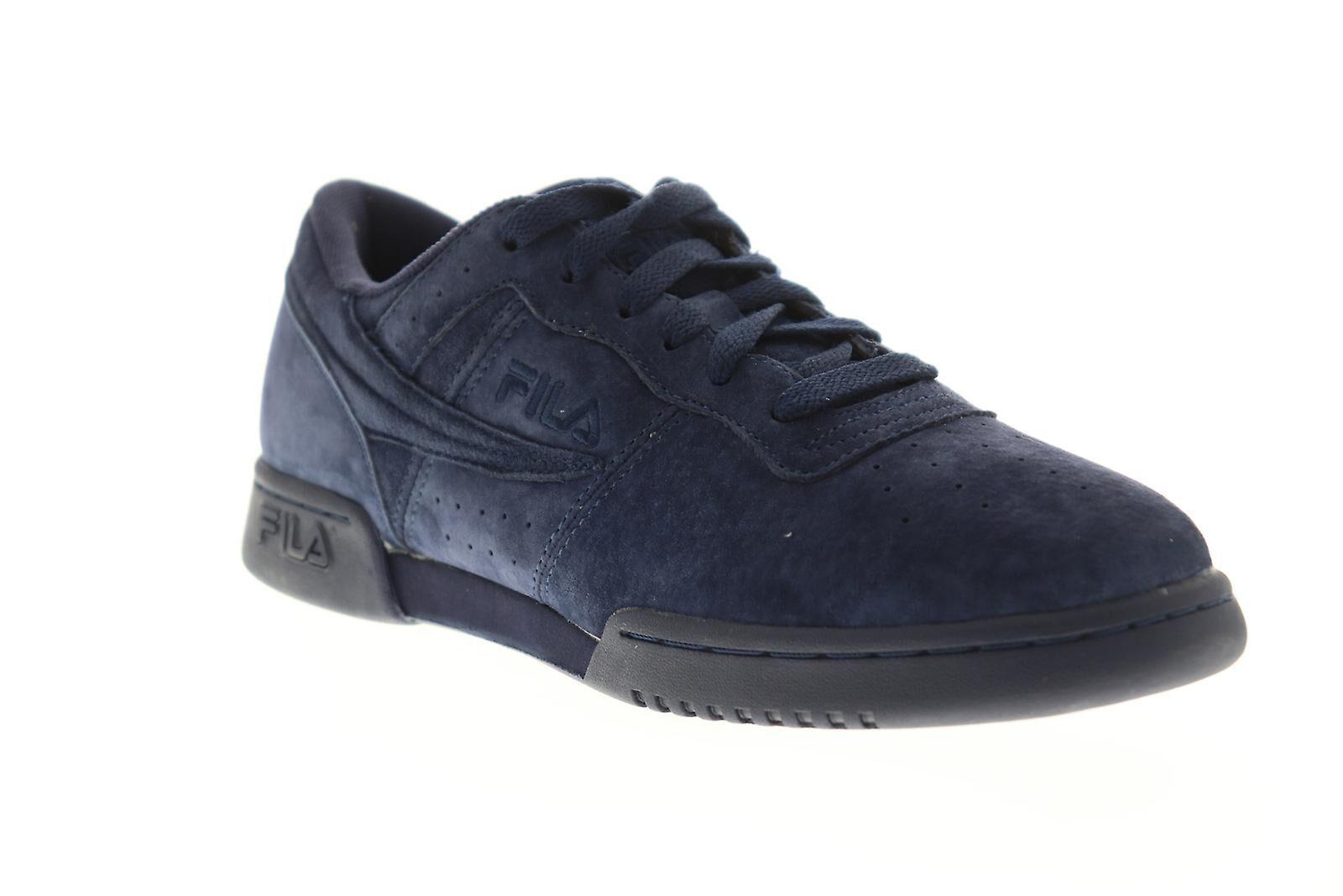 Fila Chaussures Fila Original Fitness Mens Blue Suede Casual Low Top Sne...