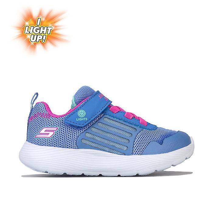 Skechers Girl-apos;s Skechers Infant Dyna Lights Trainers en bleu 5 infant