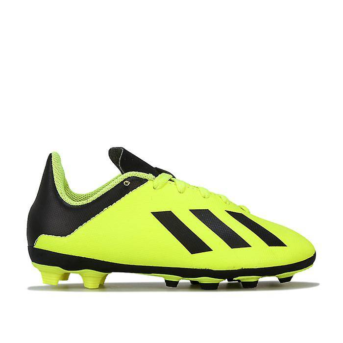 Adidas Boy-apos;s adidas Children X 18.4 FxG Chaussures de football en jaune noir jaune 10 child