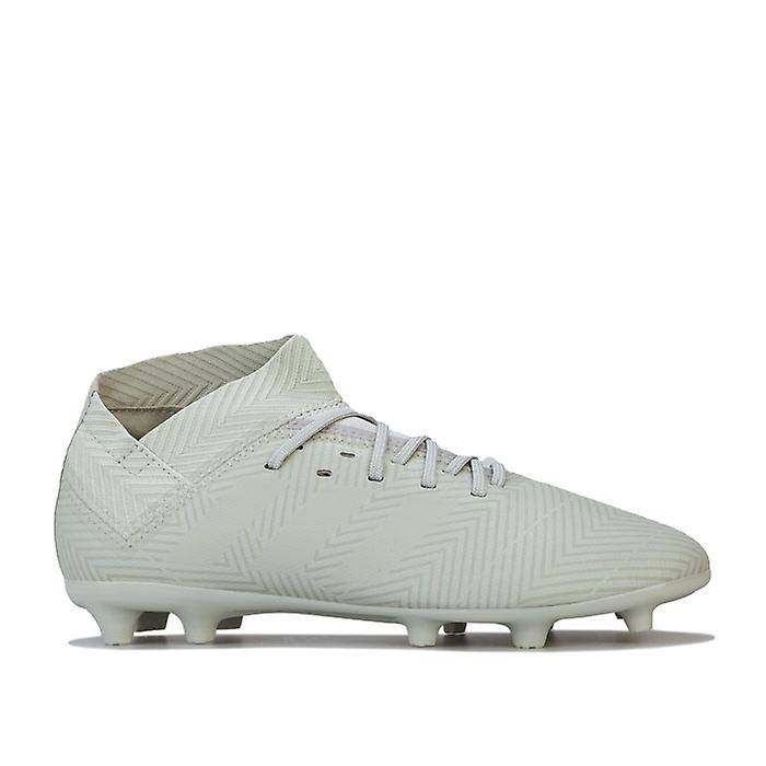 Adidas Boy-apos;s adidas Enfants Nemeziz 18.3 FG Chaussures de football en gris UK 2