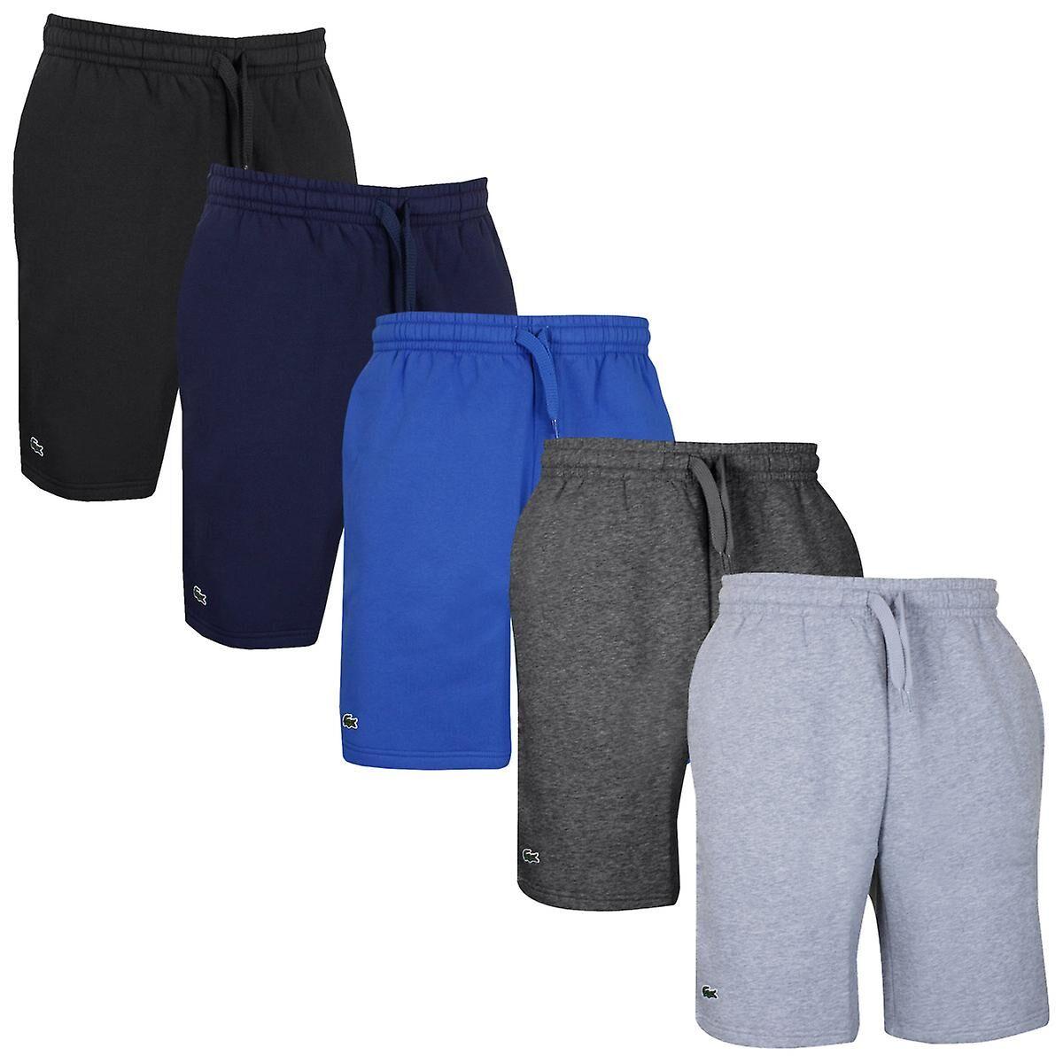 Lacoste Shorts classiques Lacoste Mens 2020 Sport Fleece Brushed Tennis Train Argent Chine Size 2 - XS