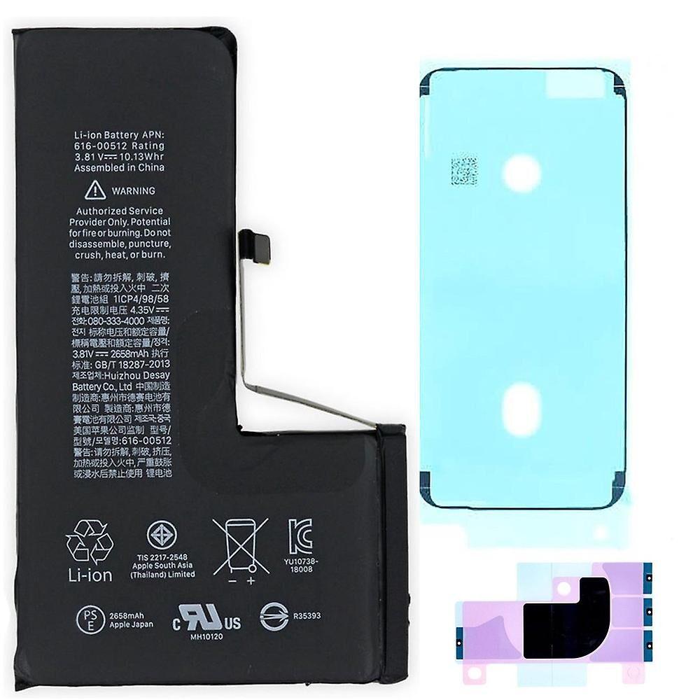 gsmschermkapot Pour iPhone Xs kit de réparation de batterie -qualité originale