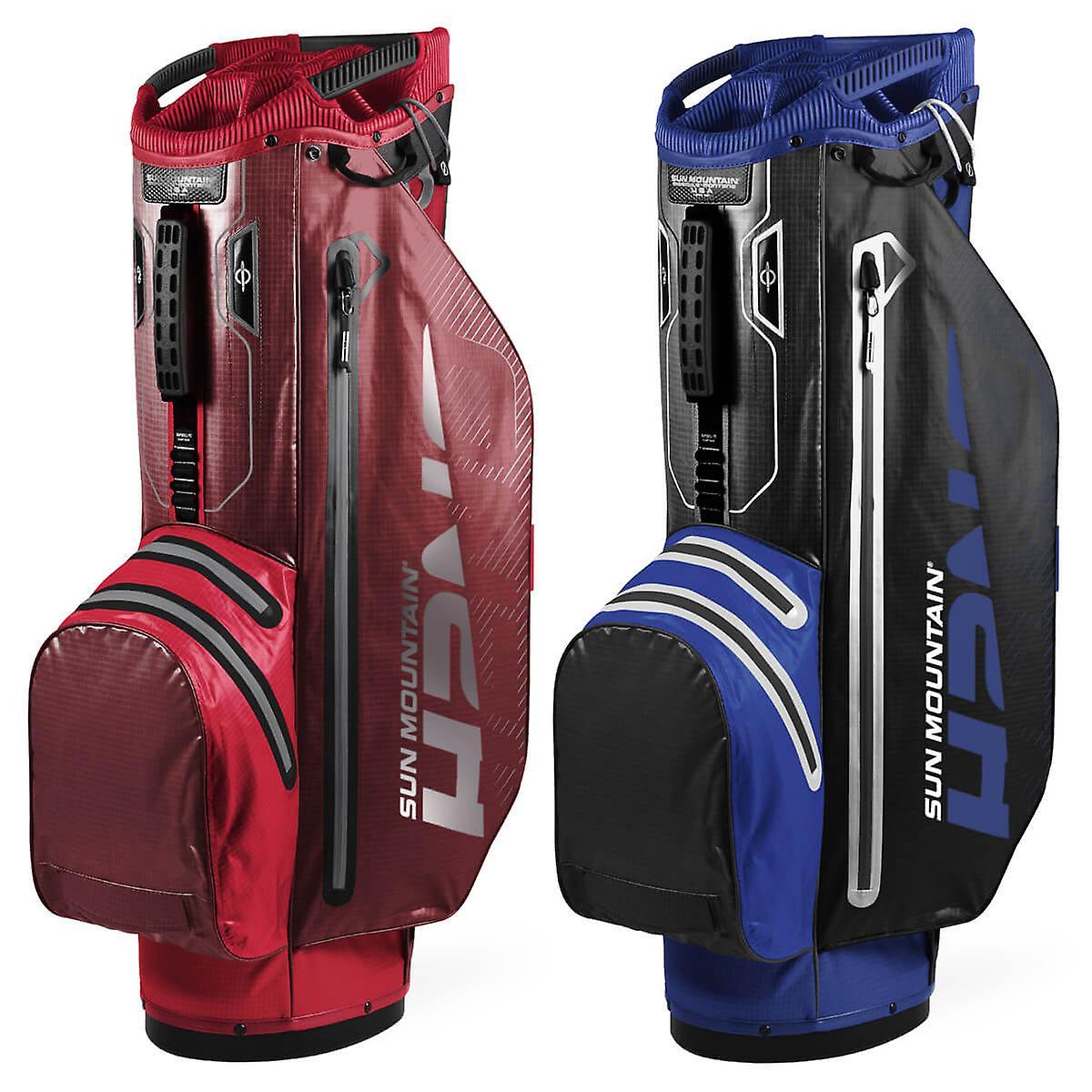 Sun Mountain Unisex 2020 H2NO Superlite Léger Imperméable à l'eau 15 Way Cart Bag Rouge/Garnet One Size